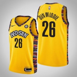 2019-20 Nets Spencer Dinwiddie # 26 City Trikot Gelb