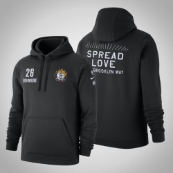 Nets # Spencer 26 Dinwiddie Spread Love Pullover SchwarzesHoodie