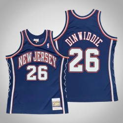 Männer New Trikot Nets Spencer Dinwiddie # 26 Blau 2006-07 Holz Classics Throwback authentisches Trikot