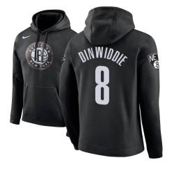Männer Spencer Dinwiddie Brooklyn Nets # 8 Black 2018 Stadt Ausgabe Hoodie