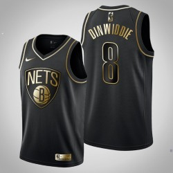 Brooklyn Nets Spencer Dinwiddie # 8 Black Golden Edition Trikot