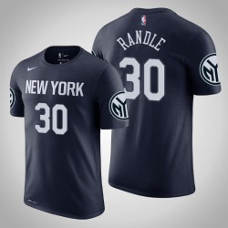 New York Knicks und 30 Julius Randle Stadt Navy 2020 Saison Name & Nummer T-Shirt