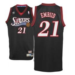 Männer Joel Embiid Philadelphia 76ers & 21 Holz Classics Schwarz Swingman Jersey